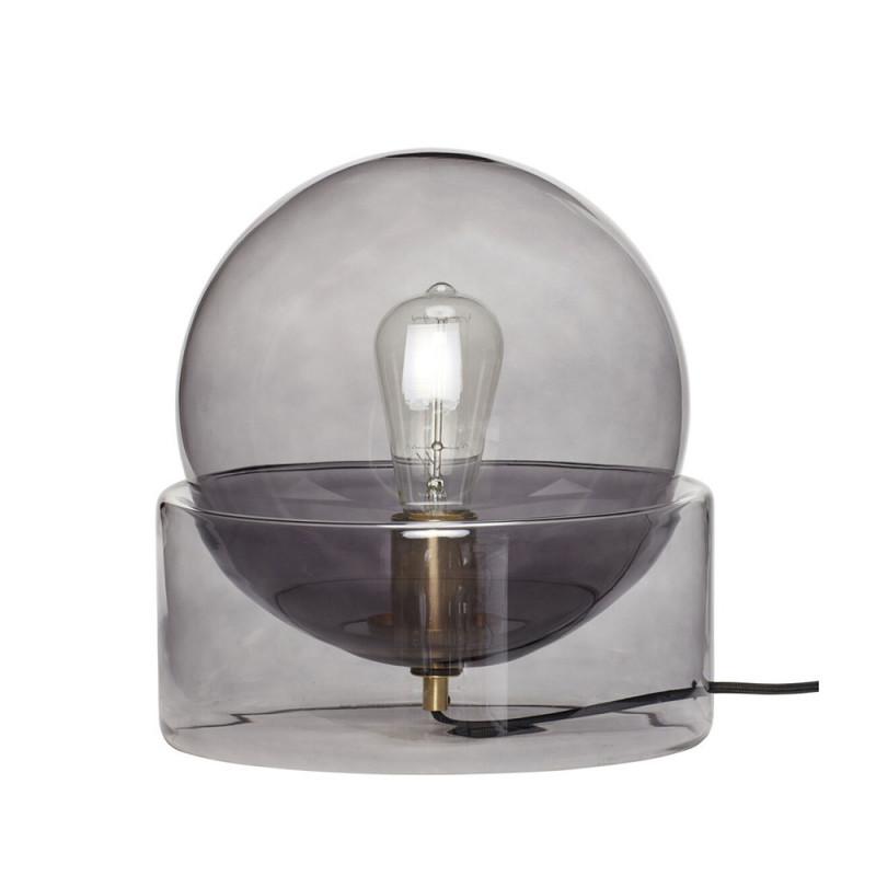 Lampe design en verre fumé Hubsch - Lemi