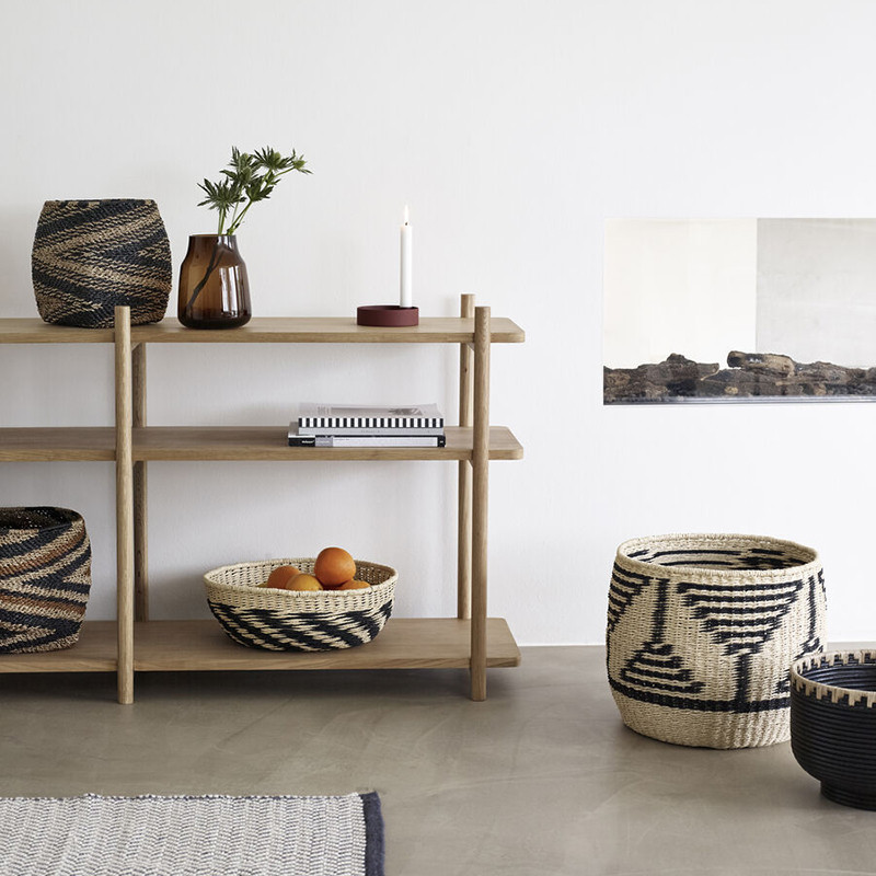 Grande console meuble en bois avec étagères Hubsch - Sine