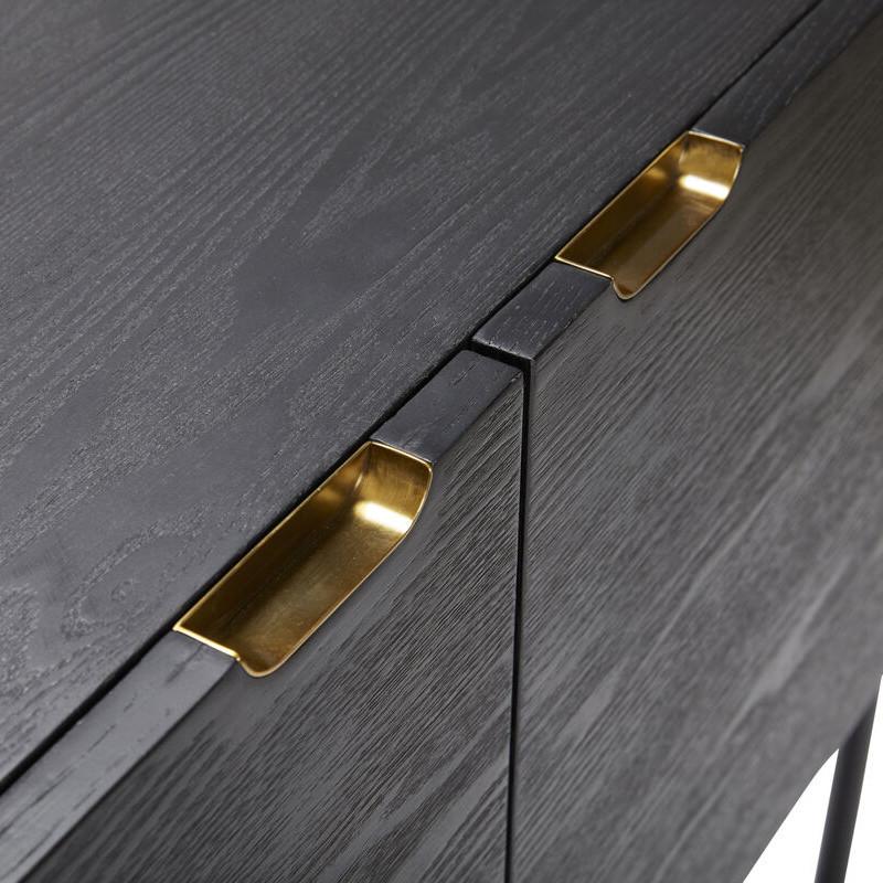 Petit meuble d'entrée noir design - Chani