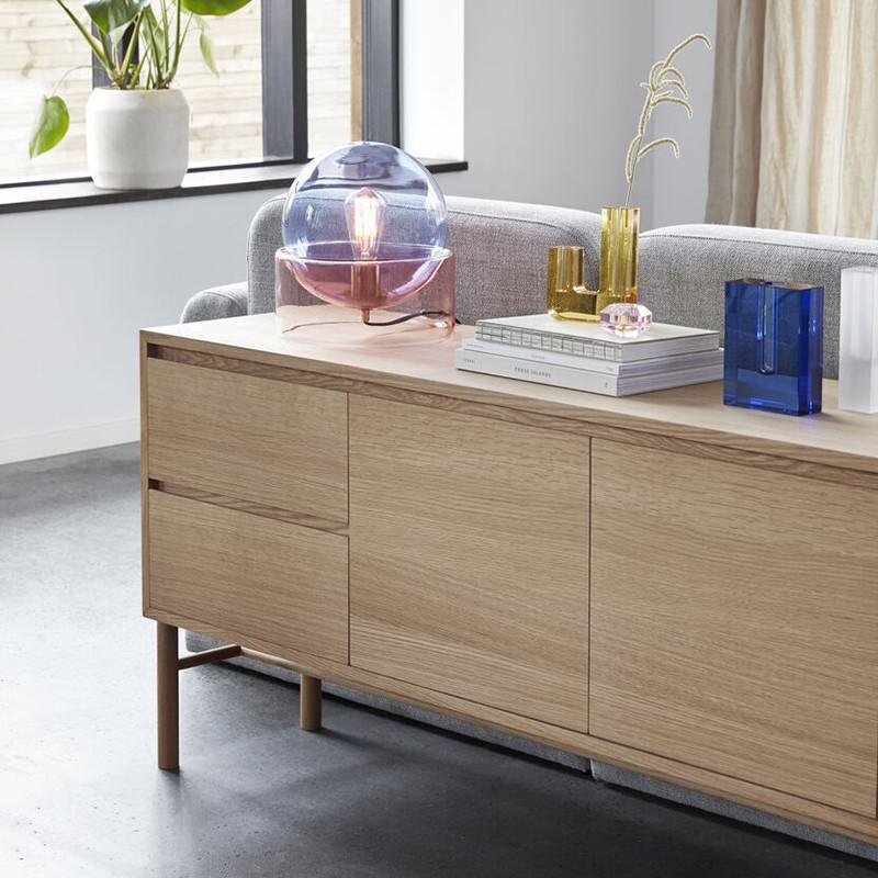 Buffet bas en bois design 2 portes et 2 tiroirs Hubsch - Sine