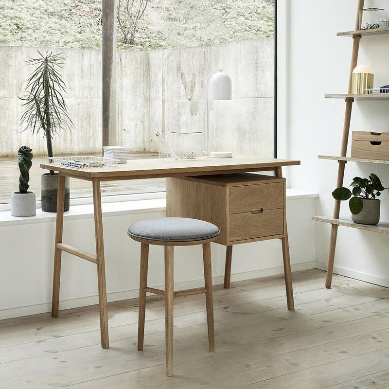 Bureau en bois 2 tiroirs style scandinave - Sine
