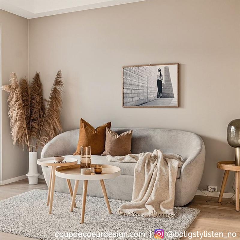 Table basse gigogne scandinave bois et blanc Bloomingville - Bambo