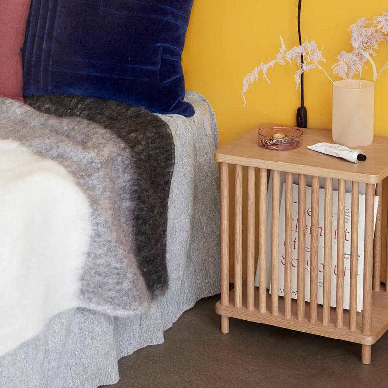 Table d'appoint design en bois naturel Hubsch - Sine