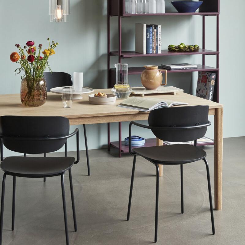 Table de salle à manger bois naturel rectangulaire - Sami