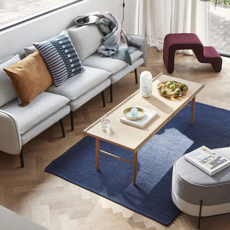 Grande table basse bois naturel rectangulaire - Sine