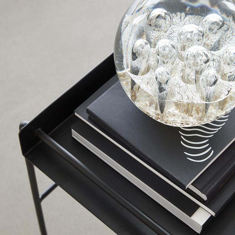 Bout de canapé en métal noir design - Slid