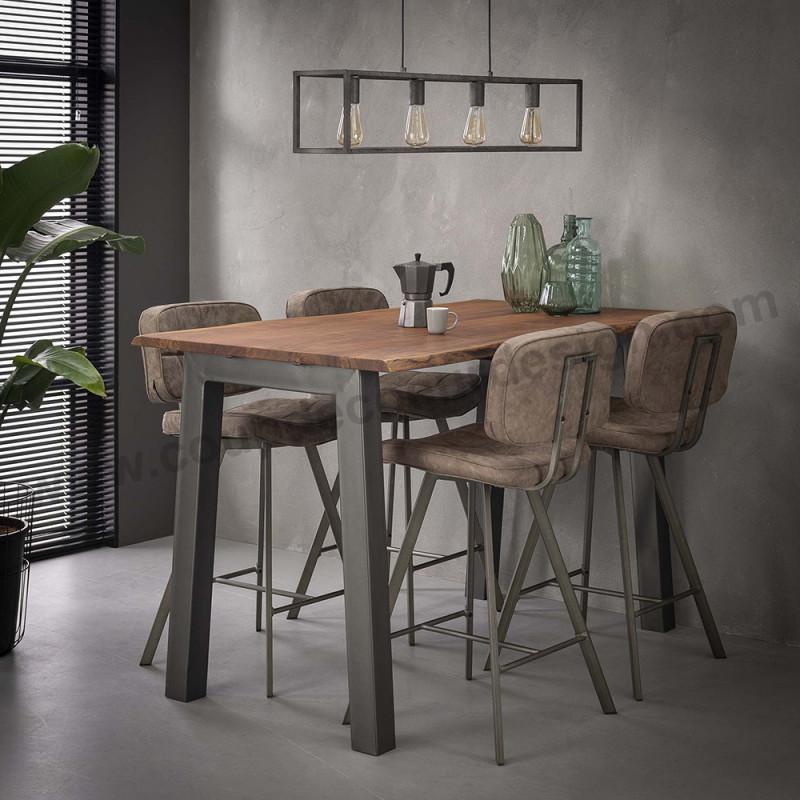 Table haute industrielle tronc d'arbre - Acacia