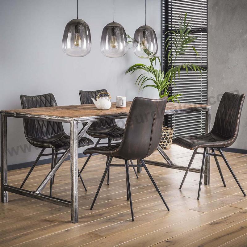 Table bois brut style industriel - Drift