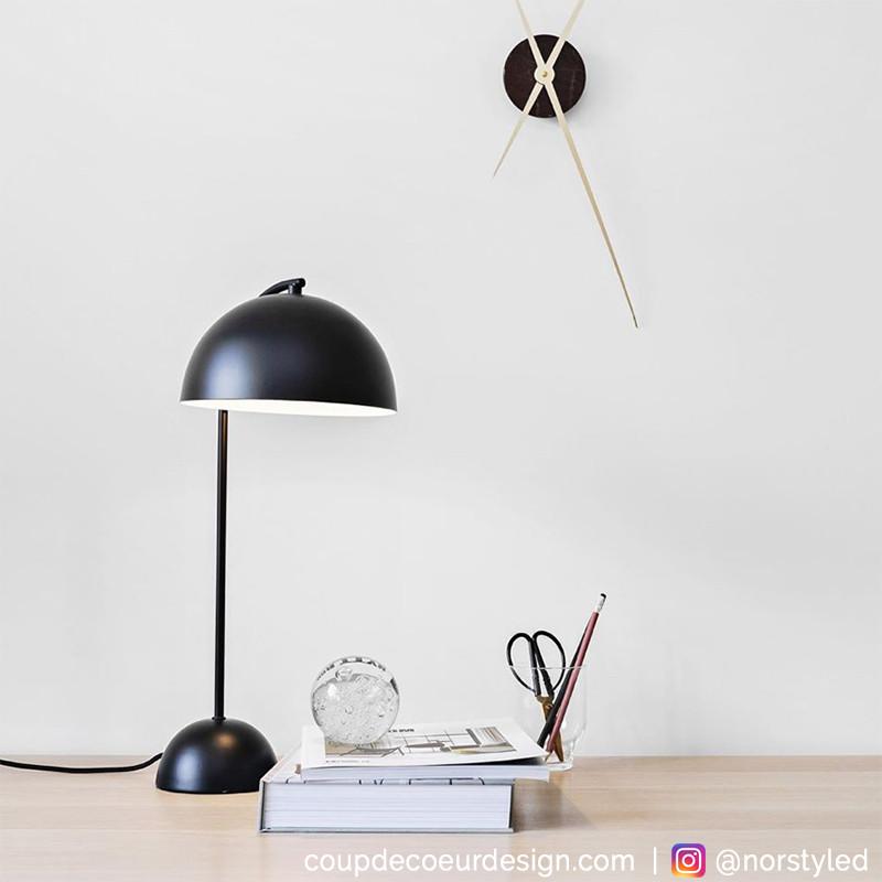 Lampe à poser noire design Hubsch - Laco