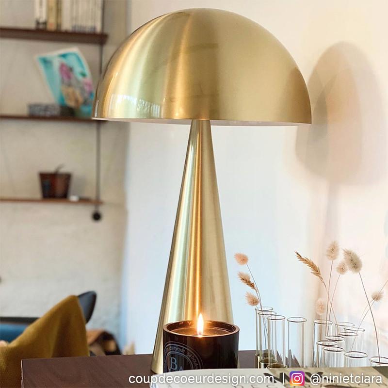 Grande lampe doré design Hubsch - Lafo