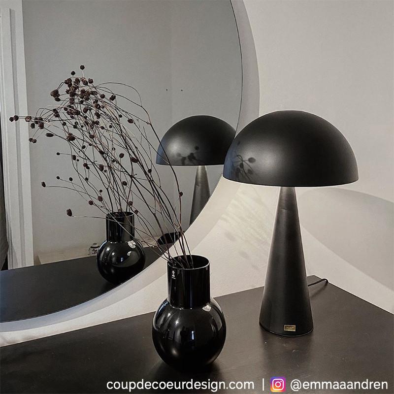 Grande lampe design noire Hubsch - Lafo