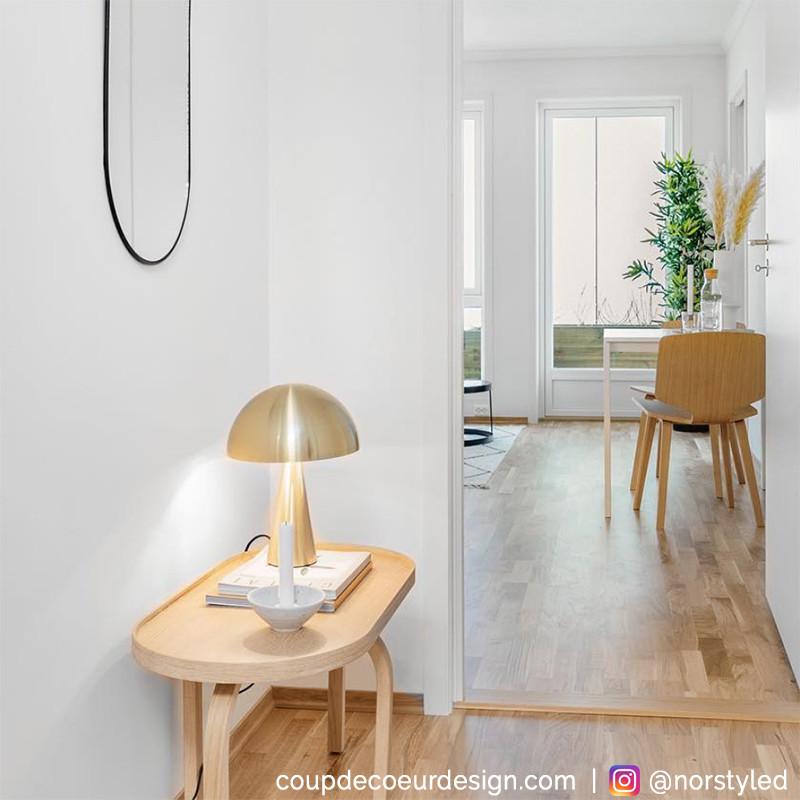 Lampe design doré dôme en métal Hubsch - Lafo