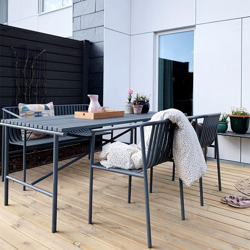 Table de jardin métal gris design Hubsch - Trévor