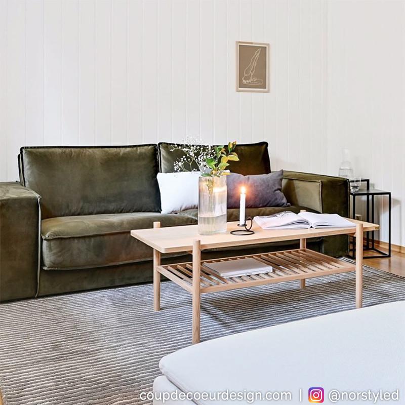 Table basse rectangulaire en bois naturel - Sine
