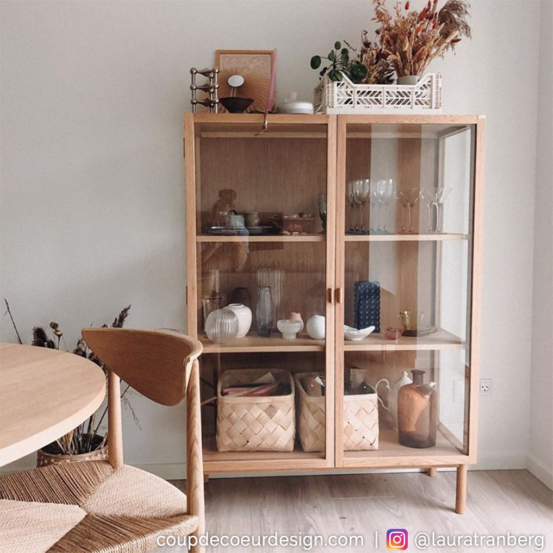 Meuble vitrine bois style scandinave - Sine