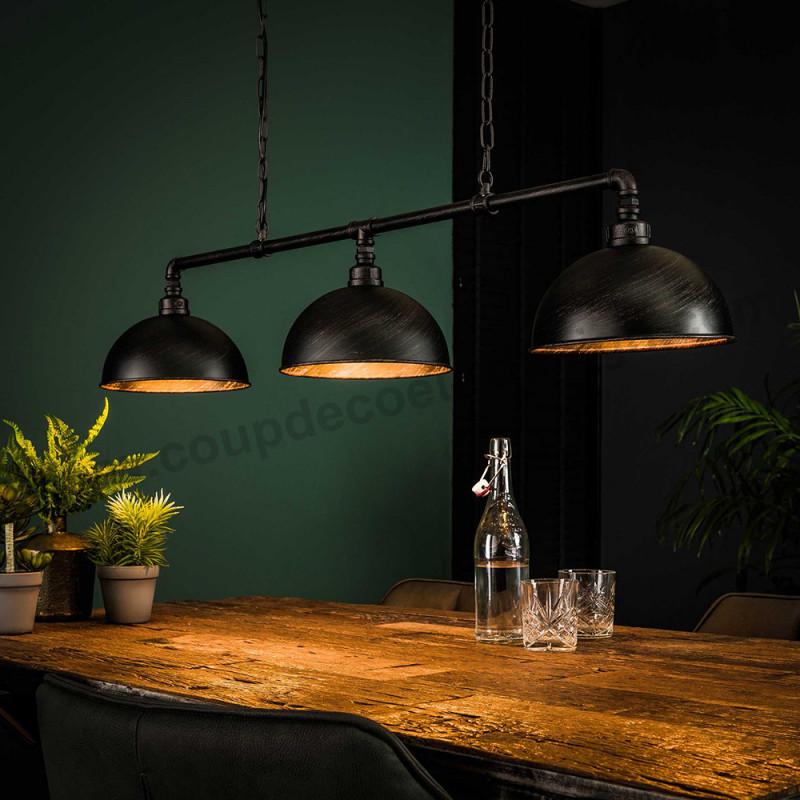 Lustre style industriel métal noir - Tub