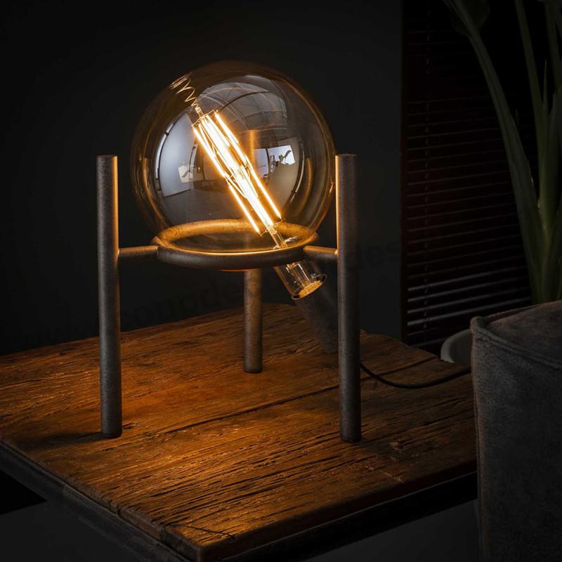 Lampe design industrielle avec ampoule déco - Pluton