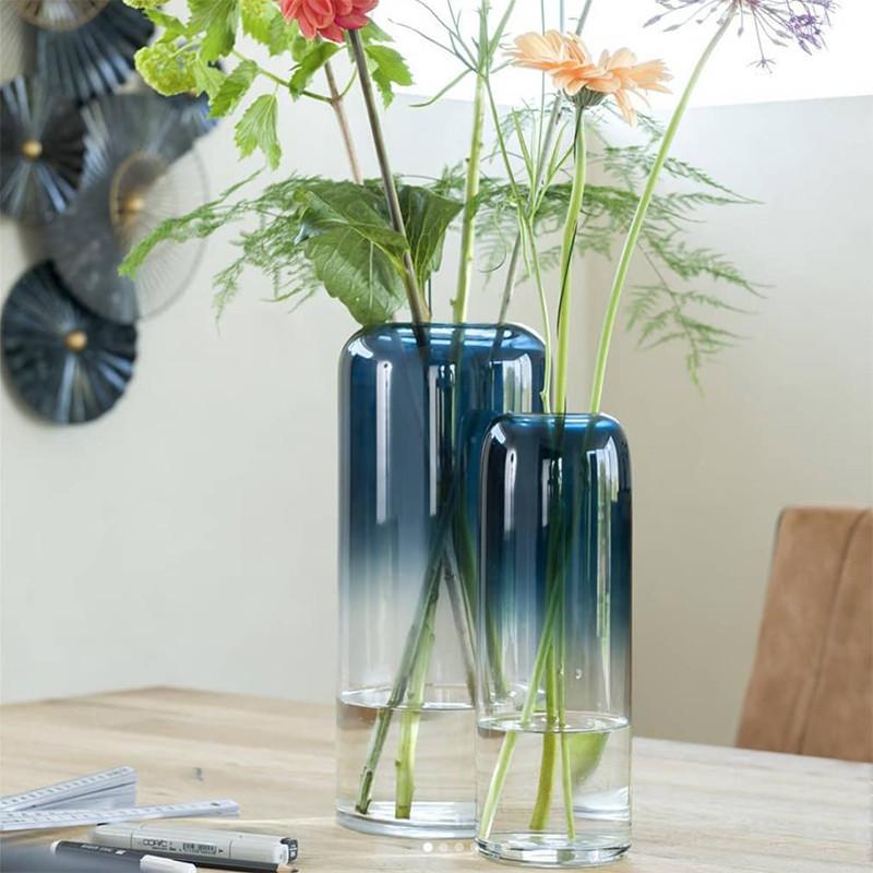 Vase en verre dégradé de bleu H29cm - Marie