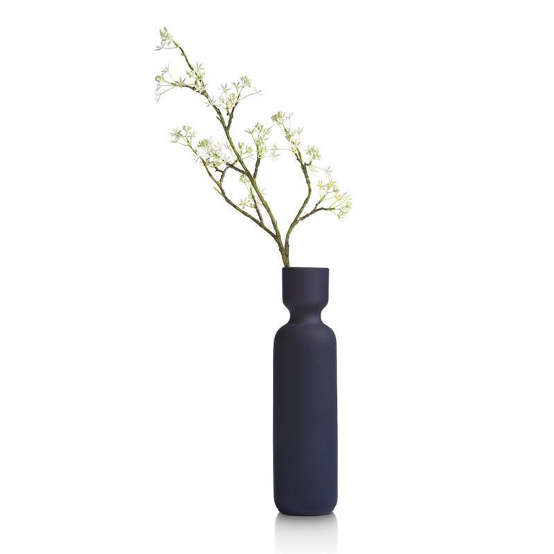 Vase bleu design en céramique H36cm - Kato