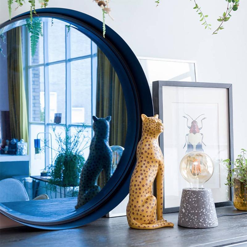 Miroir bleu rond design - Logan