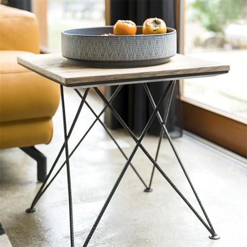 Bout de canapé bois et métal design - Gurgoan