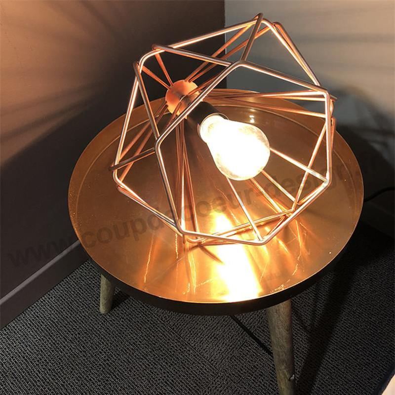 Lampe géométrique cuivre design - Tony