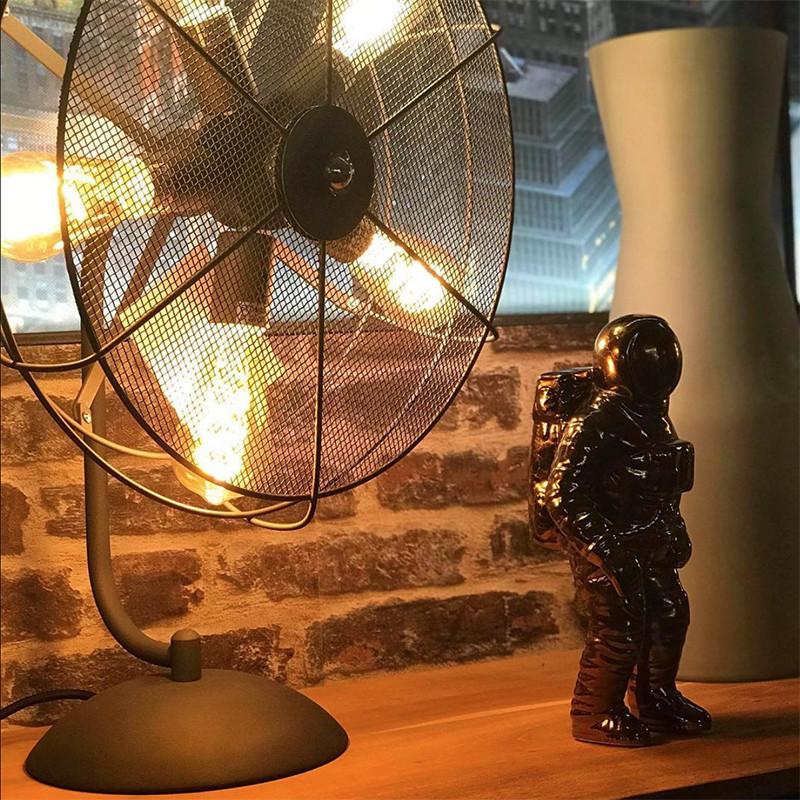 Lampe style industriel ventilateur - Fan