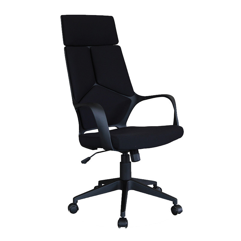 Chaise de bureau noir dossier haut - Landry