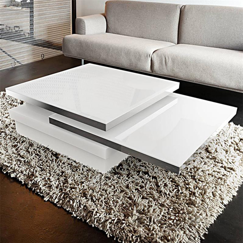 Table basse blanche modulable design - Somb