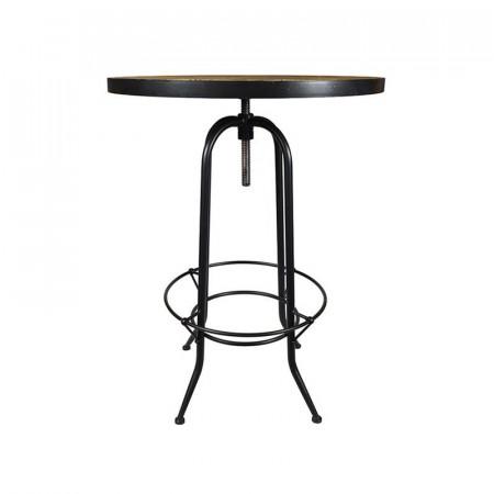 Table haute bois métal industrielle vintage - Western