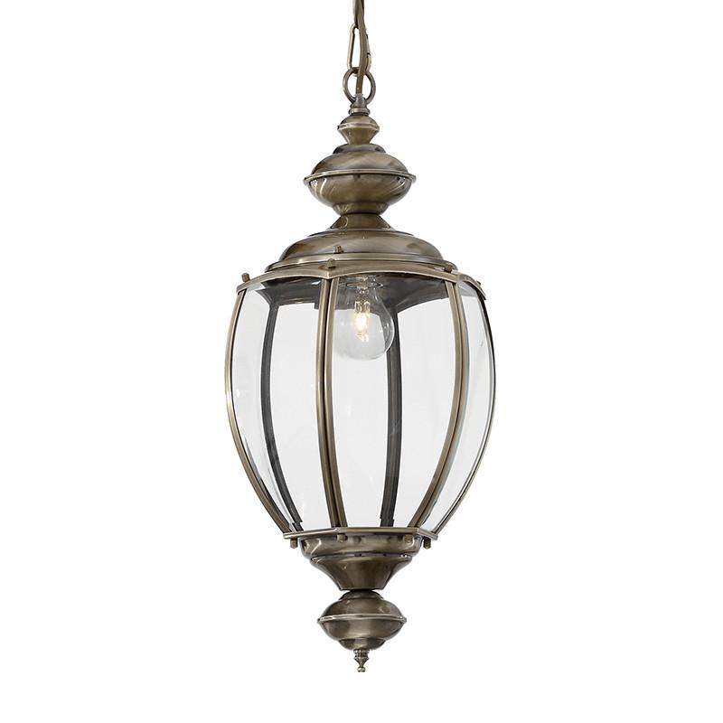 Lustre lanterne métal bruni - Baker