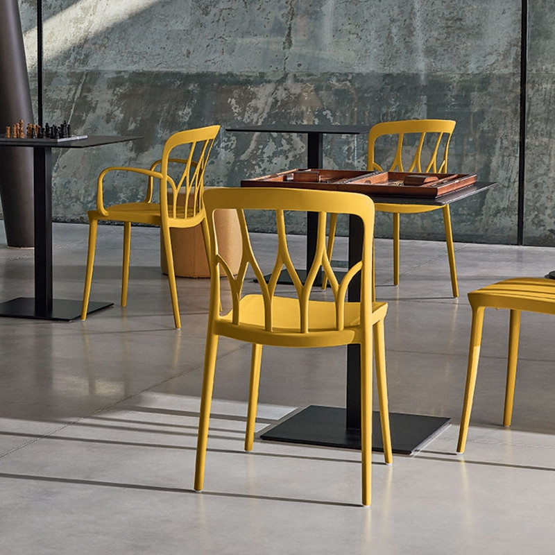 Chaise jaune design Bontempi Casa - Galaxy