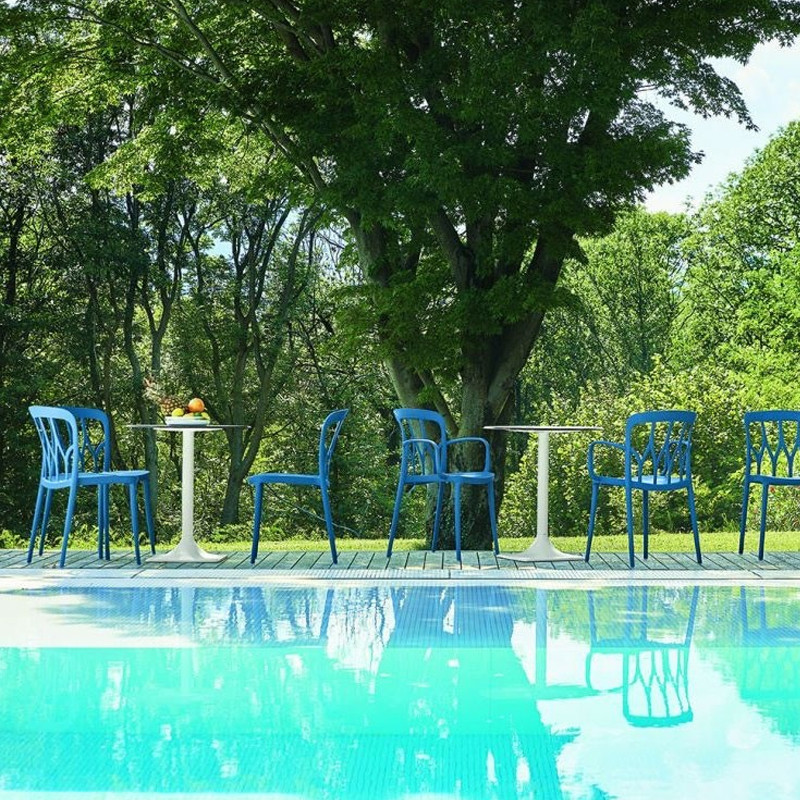 Chaise de jardin bleu design Bontempi Casa - Galaxy