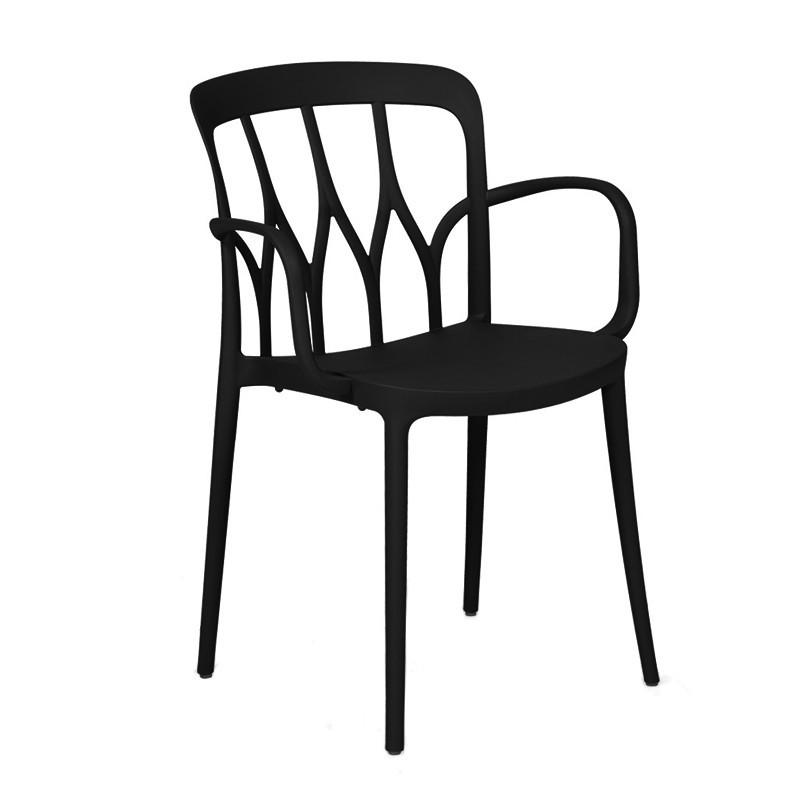 Chaise de jardin polypropylène design noir Bontempi Casa - Galaxy