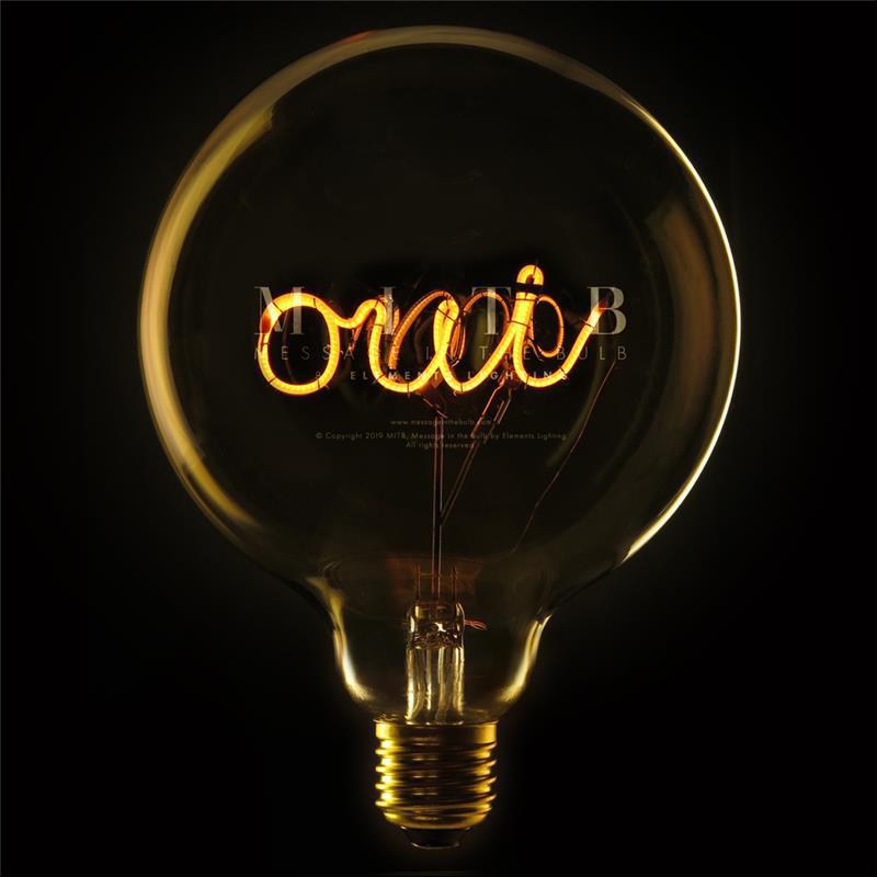 Ampoule design déco message - Oui