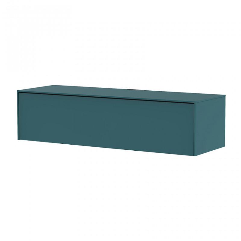 Meuble TV suspendu bleu canard 120cm - Teal