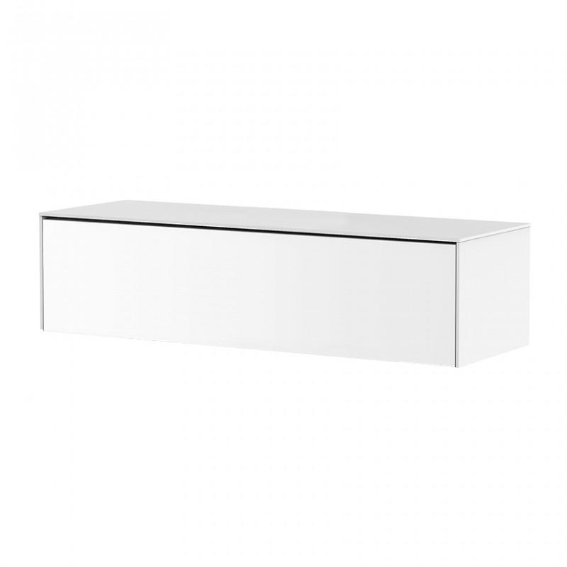Meuble TV suspendu blanc 120cm - Pure