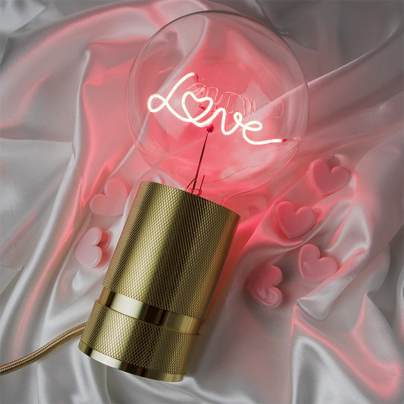 Ampoule design déco message rouge - Love