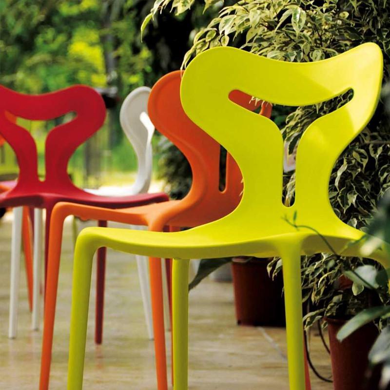 Chaise orange design Connubia - Area51