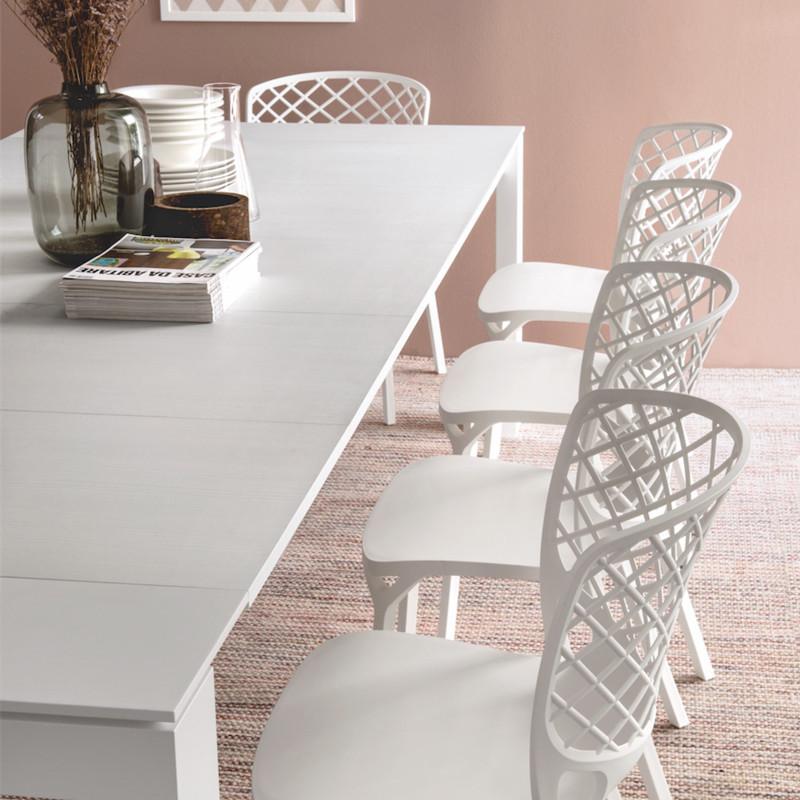 Chaise blanche design Connubia - Gamera
