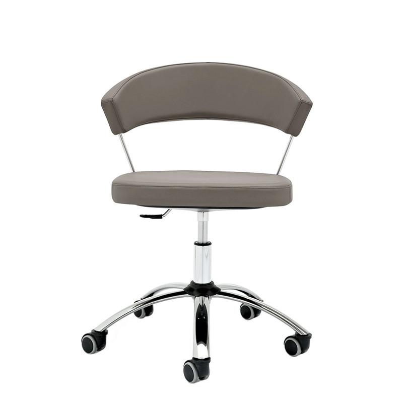 Chaise de bureau taupe Connubia - New York