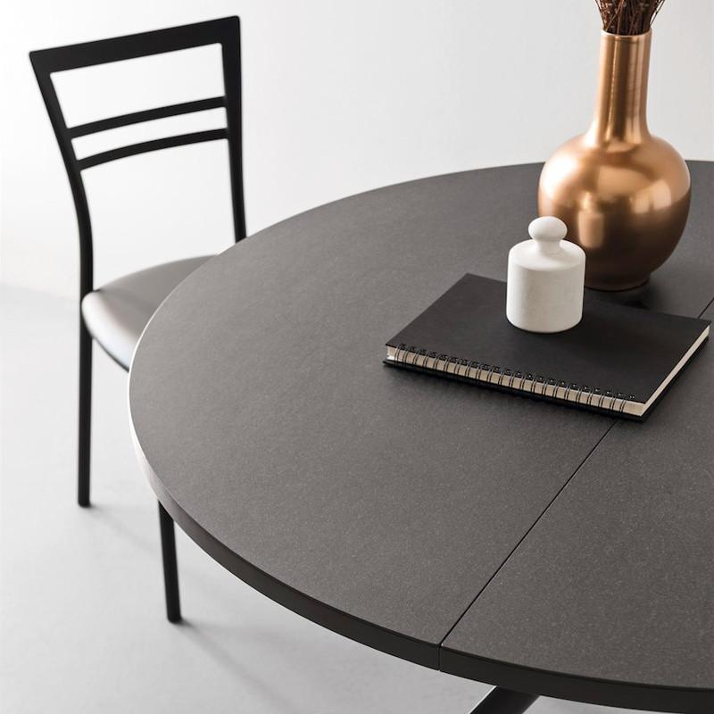 Table en céramique extensible ronde Connubia - Giove