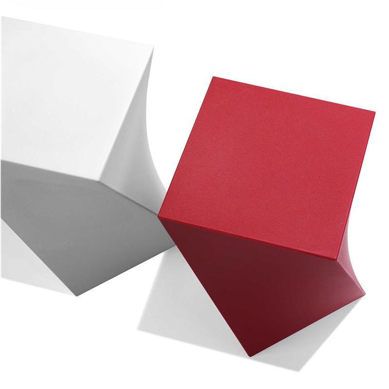 Tabouret rouge design - Kubik