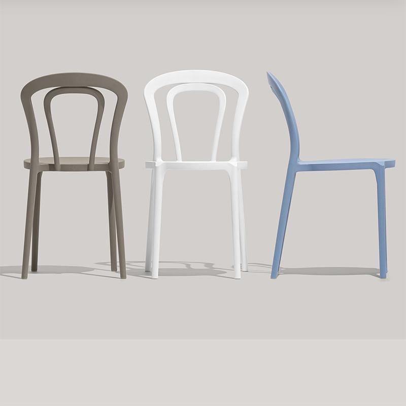 Chaise blanche style bistrot Connubia - Caffè