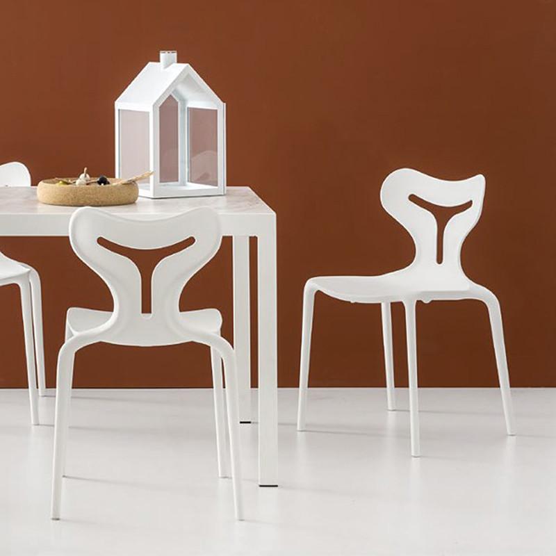 Chaise design blanche Connubia - Area51
