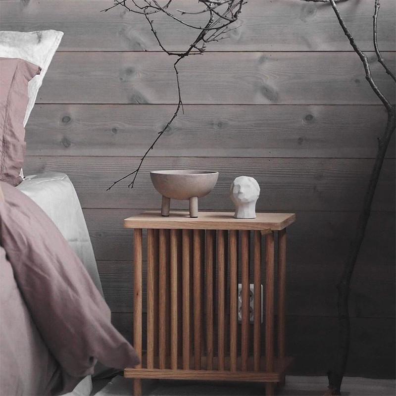 Table d'appoint design en bois naturel - Sine