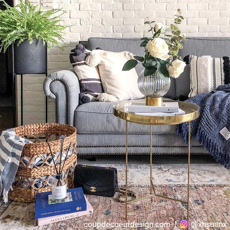 Table d´appoint dorée et taupe Bloomingville - Lovi