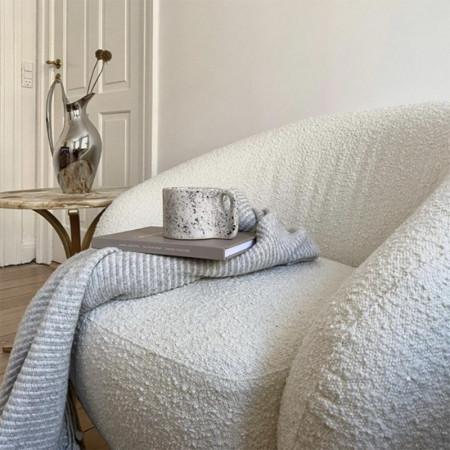 Fauteuil en laine bouclée design Bloomingville - Ted