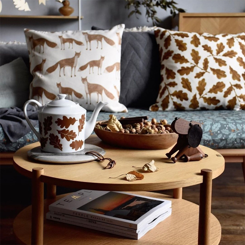 Table basse ronde bois naturel Hubsch - Sine