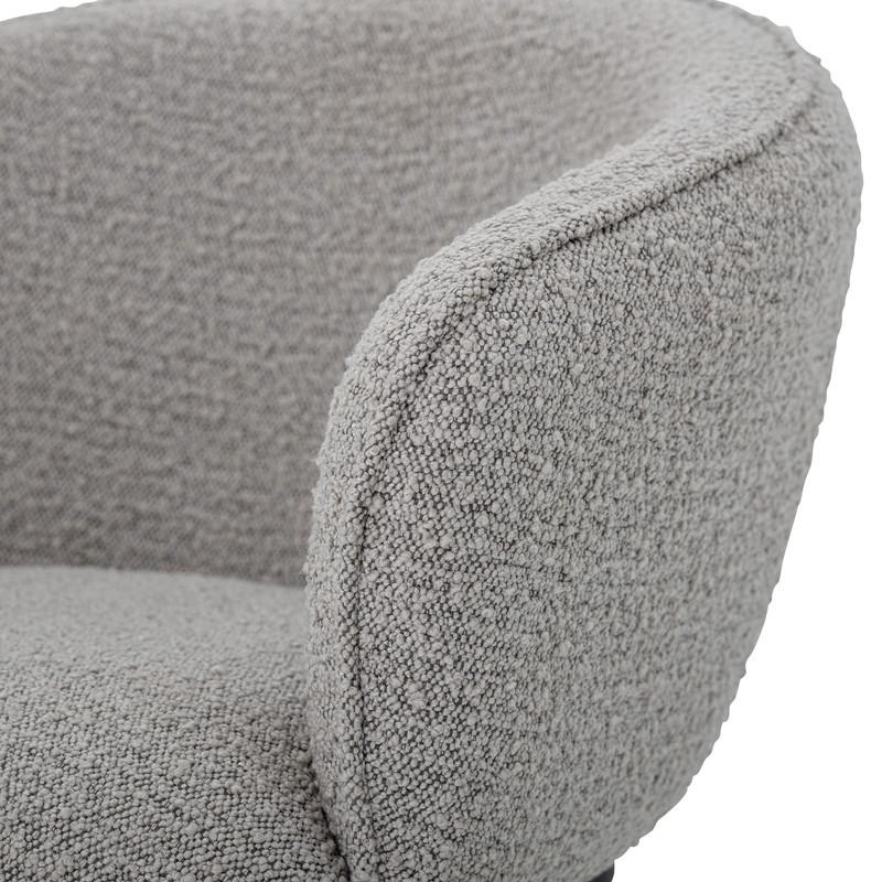 Chaise de salle à manger design laine bouclé avec accoudoirs - Cortone